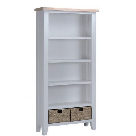 Toulouse Grey Large Bookcase